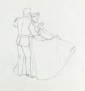 Animation Art:Production Drawing, Cinderella Cinderella and the Prince Production Drawing (Walt Disney, 1950)....