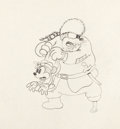 Animation Art:Production Drawing, The Klondike Kid Minnie Mouse and Peg Leg Pete ProductionDrawing (Walt Disney, 1932)....