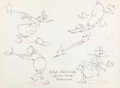 animation art:Model Sheet, Mickey's Fire Brigade Donald Duck Model Sheet (Walt Disney,1935)....