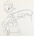 Animation Art:Production Drawing, Modern Inventions Donald Duck Production Drawing (WaltDisney, 1937)....