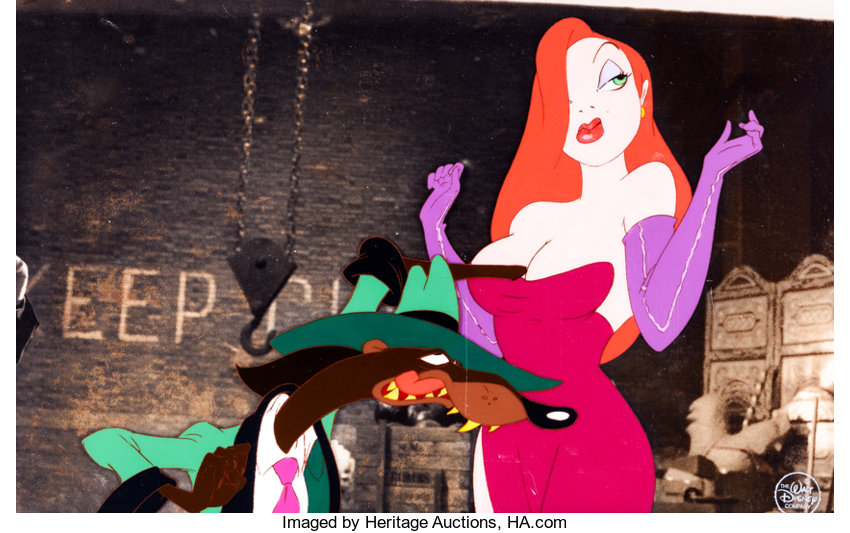 Who Framed Roger Rabbit? Jessica Rabbit and Weasel Production Cel ...
