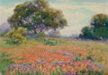 Texas:Early Texas Art - Regionalists, ELLA MARIE KOEPKE MEWHINNEY (American, 1891-1962). IndianPaintbrush. Oil on artists' board. 10 x 14 inches (25.4 x35.6...