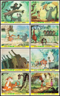 "Movie Posters:Animation, The Jungle Book (Buena Vista, 1967). British Front of House PhotoSet (8) (8"" X 10"").. ... (Total: 8 Items)"