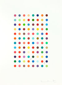 DAMIEN HIRST (British, b. 1965) Xylene Cyanol Dye Solution, 2005 Aquatint in colors with pencil 2