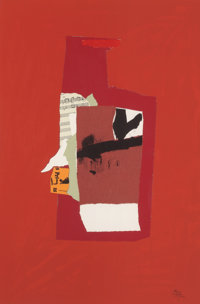 ROBERT MOTHERWELL (American, 1915-1991) Redness of Red, 1984 Lithograph in colors, screenprint, and