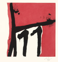 ROBERT MOTHERWELL (American, 1915-1991) Mexican Night II, 1984 Etching and aquatint in colors 17-
