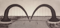 CLAES OLDENBURG (American, b. 1929) Screwarch Bridge (State II), 1980 Etching and aquatint on Arches