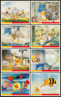 "Movie Posters:Animated, Winnie the Pooh and the Honey Tree (Buena Vista, 1966). BritishFront of House Color Photo Sets of 8 (2) (8"" X 10"").. ... (Total:16 Items)"