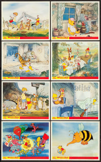 """Winnie the Pooh and the Honey Tree (Buena Vista, 1966). British Front of House Color Photo Sets of 8 (2) (8"""" X 10&q..."""