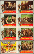"Movie Posters:War, Back to Bataan (RKO, 1945). Lobby Card Set of 8 (11"" X 14"").. ... (Total: 8 Items)"
