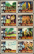 """Movie Posters:War, Flying Leathernecks (RKO, 1951). Lobby Card Set of 8 (11"""" X 14"""")..... (Total: 8 Items)"""