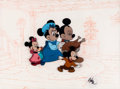 Animation Art:Production Cel, Mickey's Christmas Carol Mickey Mouse and Family ProductionCel Set-Up (Walt Disney, 1983)....