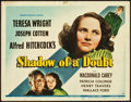 "Movie Posters:Hitchcock, Shadow of a Doubt (Universal, 1943). Title Lobby Card (11"" X 14"")....."