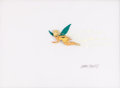 Animation Art:Production Cel, Peter Pan Tinker Bell Production Cel Set-Up Signed by Marc Davis (Walt Disney, 1953)....