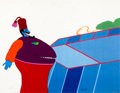 Animation Art:Production Cel, Yellow Submarine Snapping Turk Production Cel (UnitedArtists/King Features, 1968)....