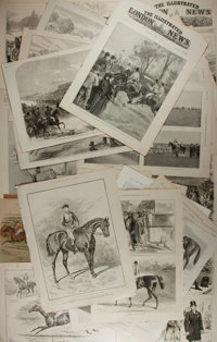 [Antique Illustration] Lot of 26 Pages Featuring Wonderful Lithograph Illustrations From the Illustrated London