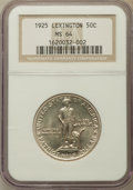 Commemorative Silver: , 1925 50C Lexington MS64 NGC. NGC Census: (1842/1094). PCGSPopulation (1807/1337). Mintage: 162,013. Numismedia Wsl. Price ...