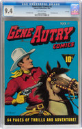 Golden Age (1938-1955):Western, Gene Autry Comics #2 File Copy (Fawcett Publications, 1942) CGC NM9.4 Off-white pages....
