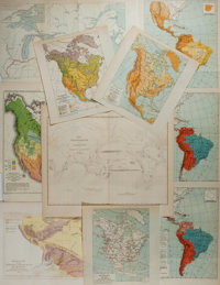 "[Maps] Lot of Nine Antique Maps. Various sizes from 7"" x 8"" to 12.5"" x 10.75"". All examples with col..."