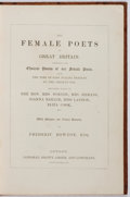 Books:Literature Pre-1900, Frederic Rowton, Esq. [editor]. The Female Poets of GreatBritain. London: Longman, Brown, Green, and Longmans, [184...