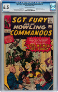 Silver Age (1956-1969):War, Sgt. Fury and His Howling Commandos #4 (Marvel, 1963) CGC FN+ 6.5 Off-white to white pages....