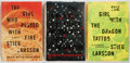 Books:Fiction, Steig Larson. Three First American Editions. All New York: Knopf,[various dates]. The Girl with the Dragon Tattoo, The ...(Total: 3 Items)