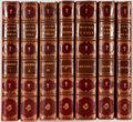 Books:Literature Pre-1900, [Tauchnitz Collection of British Authors]. Charles Dickens. Five Books in Seven Volumes. Leipzig: Bernhard Tauchnitz, 1850. ... (Total: 7 Items)