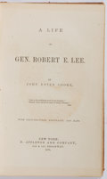 Books:Americana & American History, John Esten Cooke. A Life of Gen. Robert E. Lee. New York: D.Appleton and Company, 1871. First edition. Illustra...