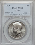 Kennedy Half Dollars: , 1976 50C Clad MS66 PCGS. PCGS Population (79/13). NGC Census:(55/3). Mintage: 234,308,000. Numismedia Wsl. Price for probl...