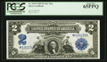 Large Size:Silver Certificates, Fr. 253* $2 1899 Silver Certificate Star Note PCGS Gem New 65PPQ.....