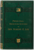 Books:Americana & American History, Robert E. Lee. Personal Reminiscences of Gen. Robert E. Lee.D. Appleton and Co., 1875. Publisher's green cloth bind...