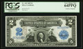 Large Size:Silver Certificates, Fr. 249 $2 1899 Silver Certificate Courtesy Autograph PCGS Very Choice New 64PPQ.. ...
