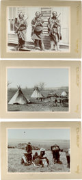American Indian Art:Photographs, THREE ANADARKO VIEWS, CABINET CARD BY WILLIAM E. IRWIN, CHICKASHA,I. T.... (Total: 3 Items)