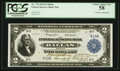 Large Size:Federal Reserve Bank Notes, Fr. 776 $2 1918 Federal Reserve Bank Note Double Courtesy Autograph PCGS Choice About New 58.. ...