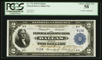 Fr. 776 $2 1918 Federal Reserve Bank Note Double Courtesy Autograph PCGS Choice About New 58