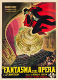 "Movie Posters:Horror, Phantom of the Opera (Universal, Late 1940s). First Post-War Release Italian 4 - Foglio (55"" X 77"").. ..."
