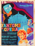 "Movie Posters:Horror, Phantom of the Opera (Universal, 1946). First Post-War Release French Grande (47"" X 63"").. ..."