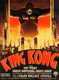 "King Kong (RKO, 1933). French Grande (45.5"" X 62.75"") Coudon Style"