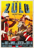 "Movie Posters:War, Zulu (Paramount, 1964). Italian 4 - Foglio (55"" X 78"").. ..."