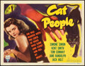 "Movie Posters:Horror, Cat People (RKO, 1942). Title Lobby Card (11"" X 14"").. ..."