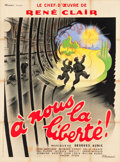 "Movie Posters:Foreign, A Nous la Liberte (Films Sonores Tobis, 1931). French Grande (47"" X63"").. ..."