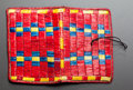 American Indian Art:Beadwork and Quillwork, A SIOUX QUILLED HIDE NEEDLE CASE. c. 1890...