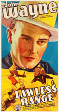 "Movie Posters:Western, Lawless Range (Republic, 1935). Three Sheet (41.5"" X 79"").. ..."