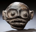 Pre-Columbian:Ceramics, A VERACRUZ MONKEY HEAD. c. 600 - 900 AD...