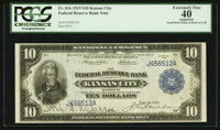 Fr. 816 $10 1915 Federal Reserve Bank Note PCGS Apparent Extremely Fine 40