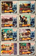 "Movie Posters:Western, She Wore a Yellow Ribbon (RKO, 1949). Lobby Card Set of 8 (oneautographed) (11"" X 14"").. ... (Total: 8 Items)"