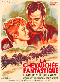"Stagecoach (Les Artistes Associes, R-1948). First Post-War Release French Grande (46"" X 62.5"")"