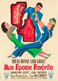 "Movie Posters:Comedy, My Favorite Wife (RKO, 1947). First Post-War Release French Grande(46"" X 63.5"").. ..."