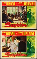 "Movie Posters:Hitchcock, Suspicion (RKO, 1941). Lobby Cards (2) (11"" X 14"").. ... (Total: 2 Items)"