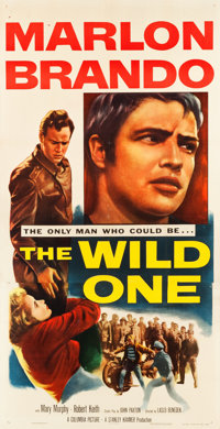 "The Wild One (Columbia, 1953). Three Sheet (41.5"" X 80"")"